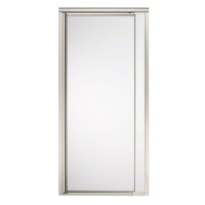 "Vista Pivot™ II Shower Door - Height 65-1/2"", Max. Opening 31-1/4"" - Nickel with Frosted Glass Pattern"