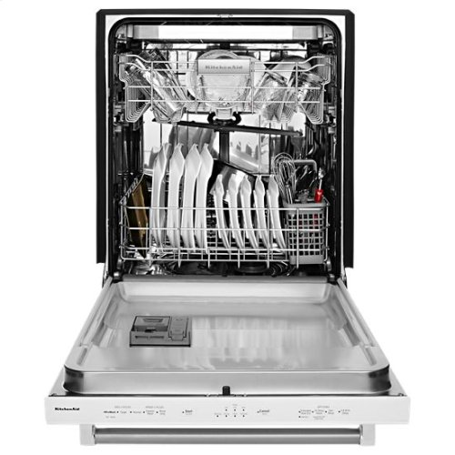 KitchenAid® 46 DBA Dishwasher with Third Level Rack - White