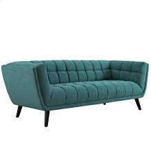 Bestow Upholstered Fabric Sofa in Teal