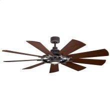"""Gentry LED 65"""" Fan Weathered Zinc"""