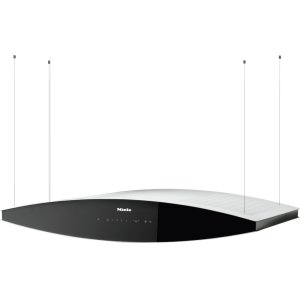 MieleIsland d(eback)cor hood with dimmable halogen lighting and touch controls for convenient operation.