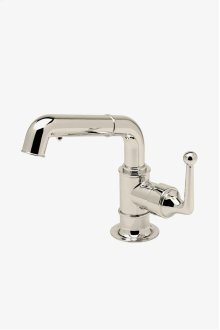 Dash One Hole Low Profile Kitchen Faucet with Pull-Out Spray and Metal Lever Handle STYLE: DSKM70