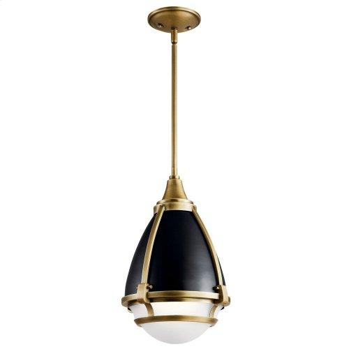 Ayra 1 Light Pendant Natural Brass