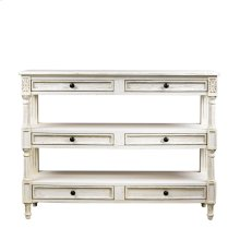 English Vintage White Console Table