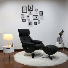 Black Top Grain Leather, Chrome
