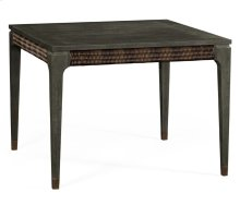 Square Grey & Rattan Dining Table