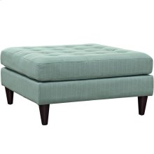 Empress Upholstered Fabric Large Ottoman in Laguna