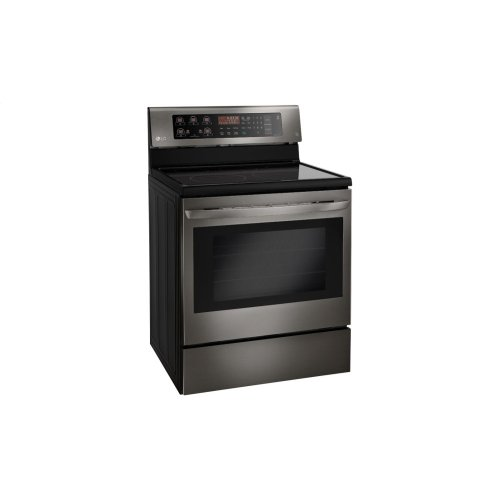 Lg Black Stainless Steel Series 6 3 Cu Ft Capacity Electric Single Oven Range With