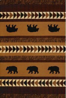 Contours/donna Sharp Woodcut Bear Rugs
