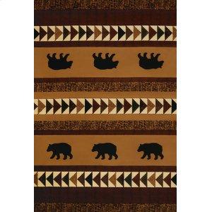 Contours/donna Sharp Woodcut Bear Rugs
