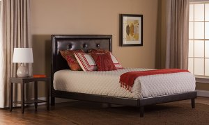 Becker Full Bed Set - Brown Faux Leather