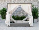 Renava Marin Outdoor Beige Canopy Sunbed Product Image