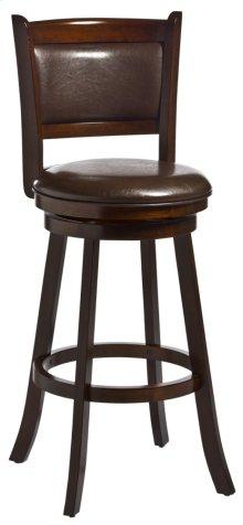 Dennery Swivel Bar Height Stool - Cherry/brown