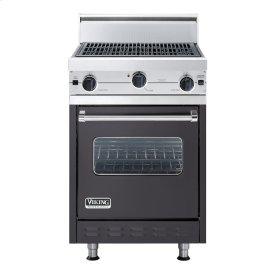 "Graphite Gray 24"" Char-Grill Companion Range - VGIC (24"" wide range with char-grill, single oven)"