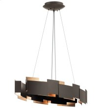 "Moderne 16.25"" LED Oval Chandelier Olde Bronze®"