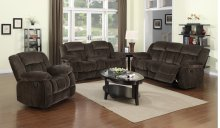Sunset Trading Teddy Bear 3 Piece Reclining Living Room Set - Sunset Trading