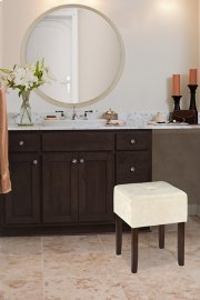 Bellamy Backless Vanity Stool - Brown Product Image