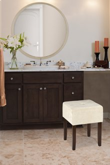 Bellamy Backless Vanity Stool - Brown