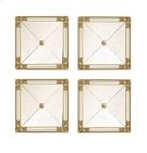 SET/FOUR SQUARE MIRRORS, GOLD LEAF Product Image