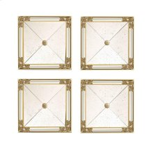 SET/FOUR SQUARE MIRRORS, GOLD LEAF