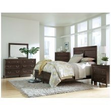 Borders Panel King Bed - Complete