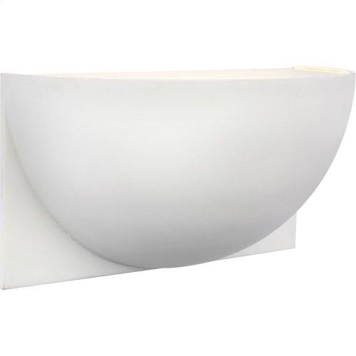 Visual Comfort PB2070WHT-FG Peter Bristol Quarter Sphere LED 10 inch White Up Light Wall Light, Small