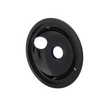 Smart Choice 8'' Black Porcelain Drip Bowl