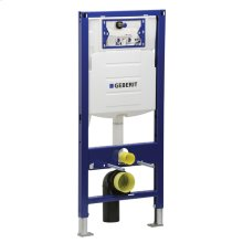 Concealed tank and carrier system for wall-hung toilets. Dual-flush system 1.6 gpf and 0.8 gpf.