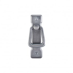 Mission Ring Pull & Backplate 2 1/4 Inch (c-c) - Pewter Light