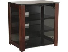 """AV Component Stand Smoked tempered-glass doors - fits AV components and TVs up to 37"""" - Chocolate"""