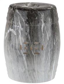 Delphina Marble Garden Stool - Grey / White