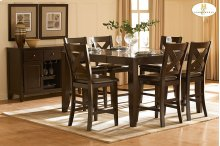 HOMELEGANCE 1372-36-24 Crown Point Counter Height Table & 6 Chairs