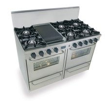 """48"""" All Gas Range, Open Burners, Stainless Steel"""
