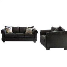 Signature Design by Ashley Darcy Living Room Set in Black Microfiber [FSD-1109SET-BLK-GG]