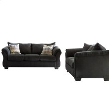 Signature Design by Ashley Darcy Living Room Set in Black Microfiber [FSD-1109SET-BLK-GG]