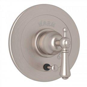 Satin Nickel Perrin & Rowe Georgian Era Integrated Volume Control Pressure Balance Trim With Diverter with Georgian Era Solid Metal Lever