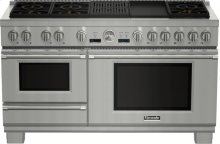 60 inch Professional Series Pro Grand Commercial Depth Dual Fuel Steam Range PRD606RCSG