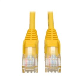 Cat5e 350MHz Snagless Molded Patch Cable (RJ45 M/M) - Yellow, 3-ft.