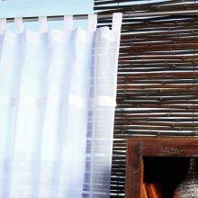 Sheer White Tabtop 42x84 100% Cotton Curtains