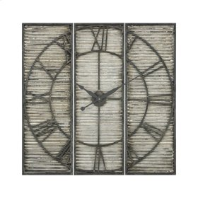 Tammany Square Triptych Wall Clock