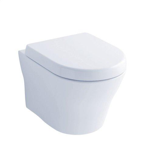 MH Wall-Hung Dual-Flush Toilet 1.28 GPF & 0.9 GPF D-Shaped Bowl - Cotton
