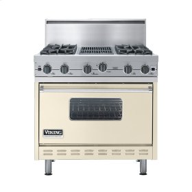 "Biscuit 36"" Open Burner Commercial Depth Range - VGRC (36"" wide, four burners 12"" wide char-grill)"