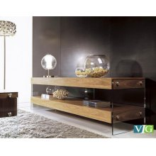 Modrest Aura Modern Walnut Floating TV Stand