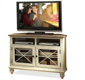 Coventry Corner TV Console Weathrd Drftwd/Dover Whit finish