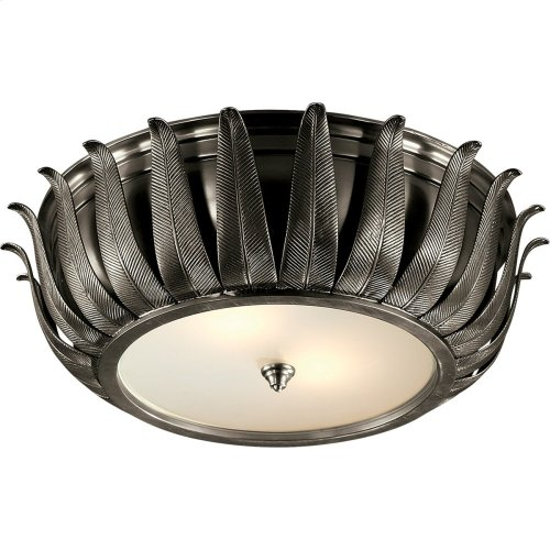 Visual Comfort AH4000GM-FG Alexa Hampton Audrey 2 Light 16 inch Gun Metal Flush Mount Ceiling Light