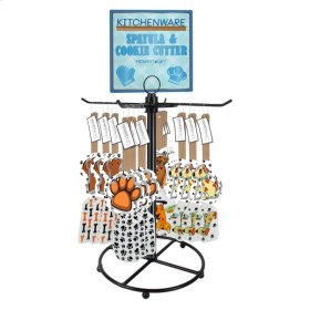 13 pc. assortment. Pet Spatula with Cookie Cutter & Counter Displayer. (12 pc. assortment)