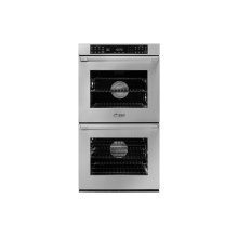 "27"" Heritage Double Wall Oven, Silver Stainless Steel with Flush Handle"