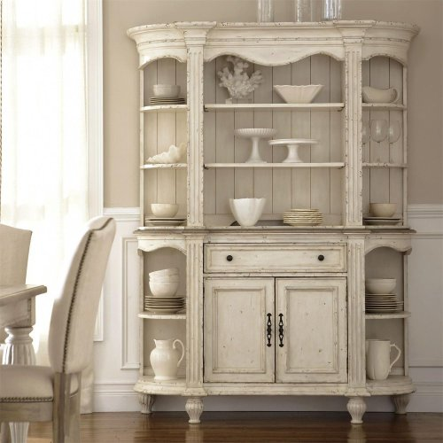 Coventry Two Tone - Server - Weathered Driftwood/dover White Finish