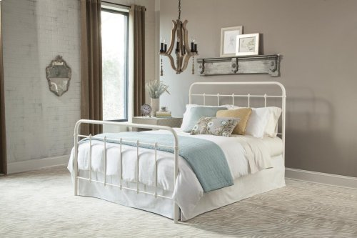 Kith White Metal Queen Bed