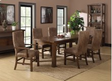 Chambers Creek - 5 Piece Dining Table Set with Butterfly Leaf and Upholstered Chairs